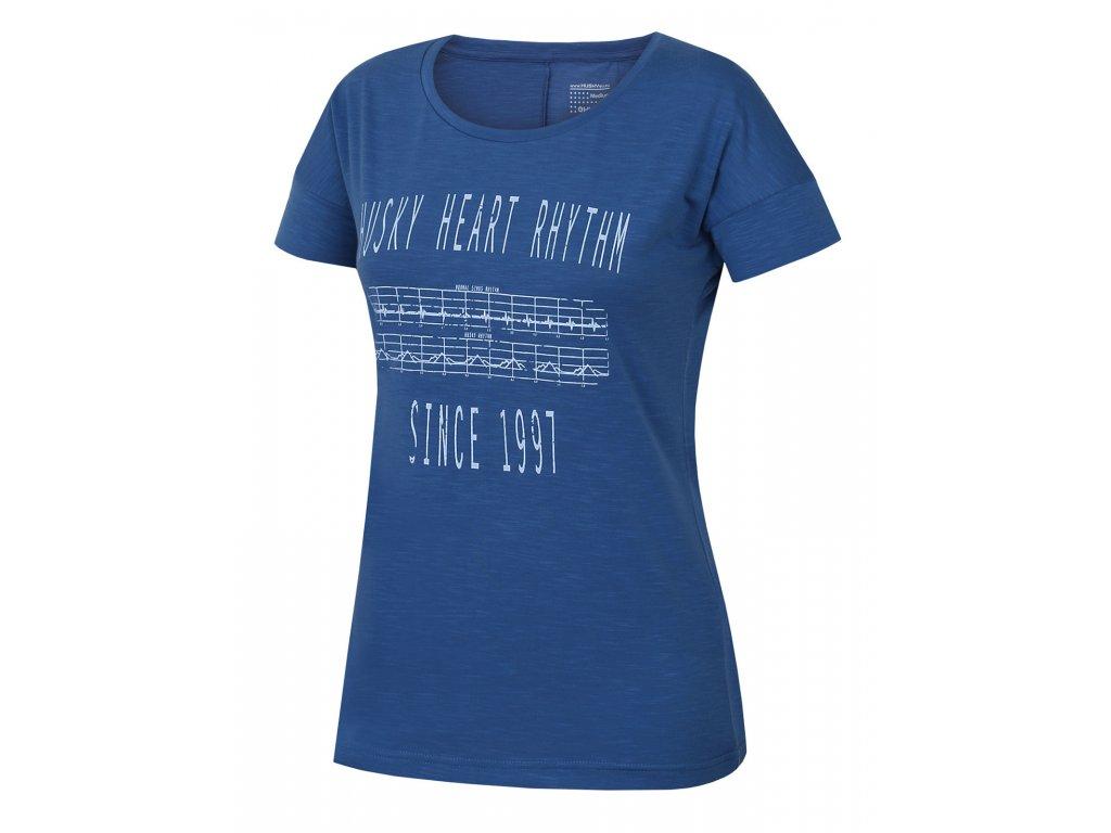 Dámské triko Tingl L tm. modrá
