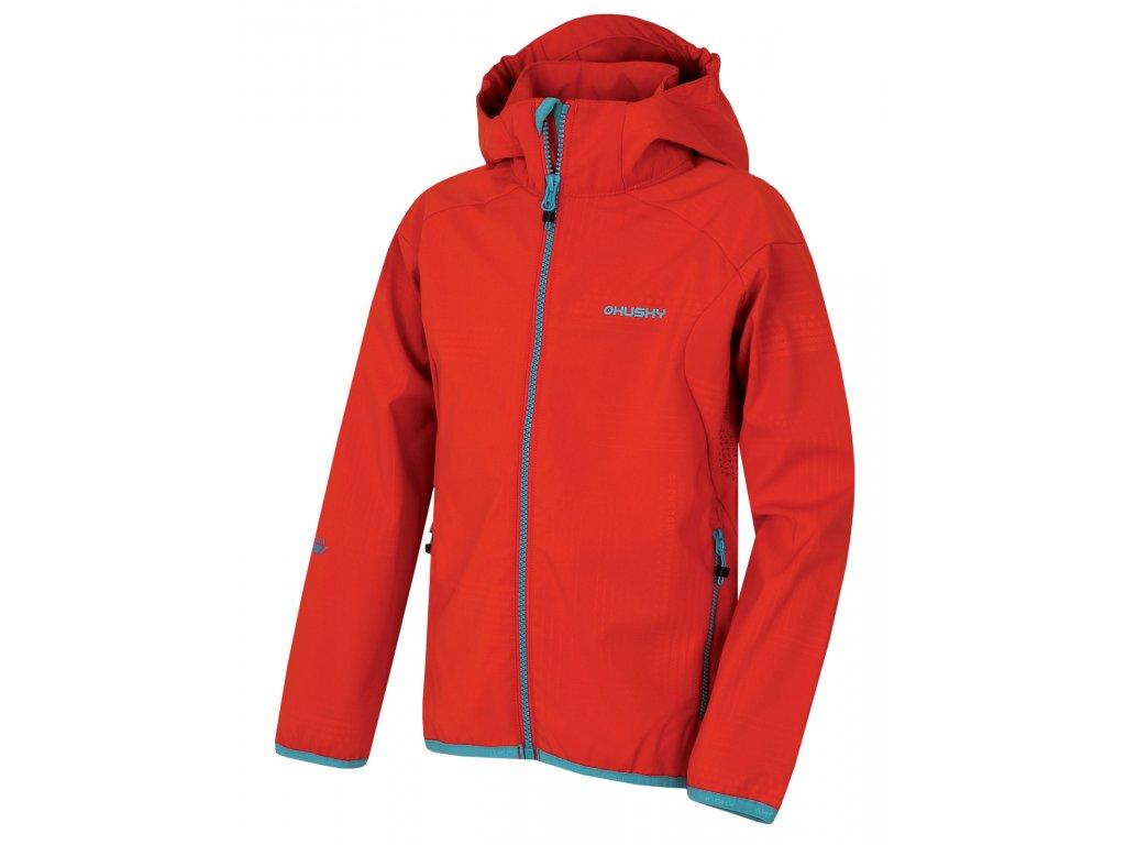Dětská softshellová bunda Zally Kids červená