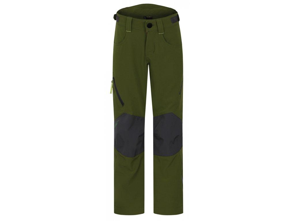 Dětské outdoor kalhoty Zony Kids tm.zelená