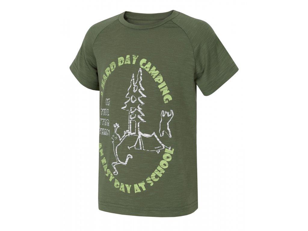 Dětské triko Zingl Kids tm.zelená