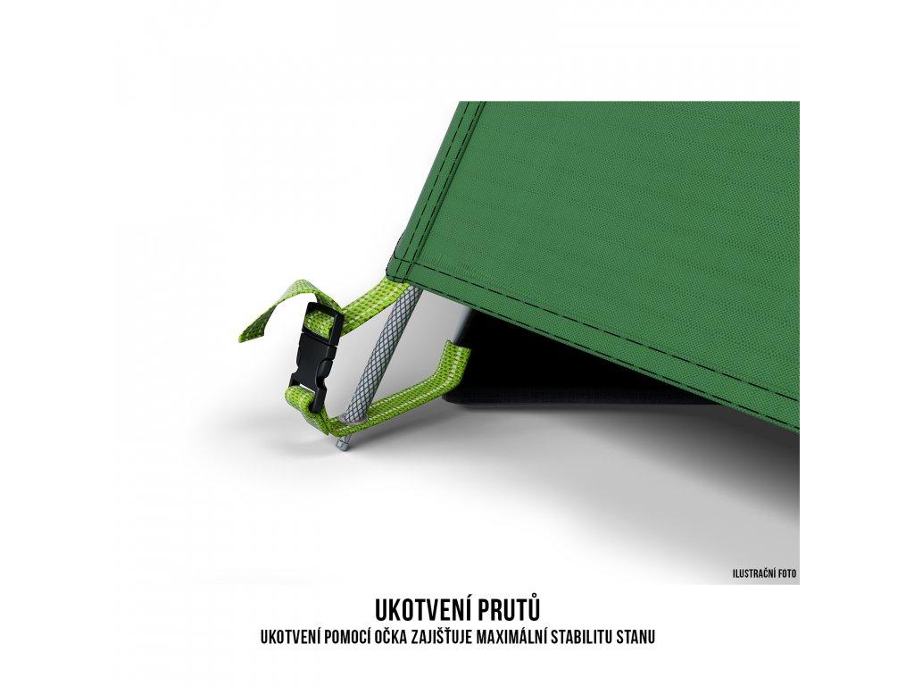 Stan Outdoor Bizon 4 plus zelená  Dárek v hodnotě 199,- zdarma