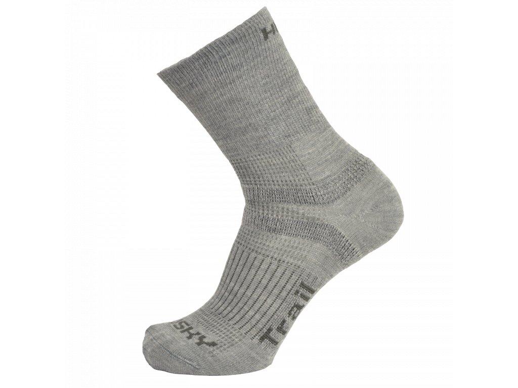 Ponožky Trail sv. šedá