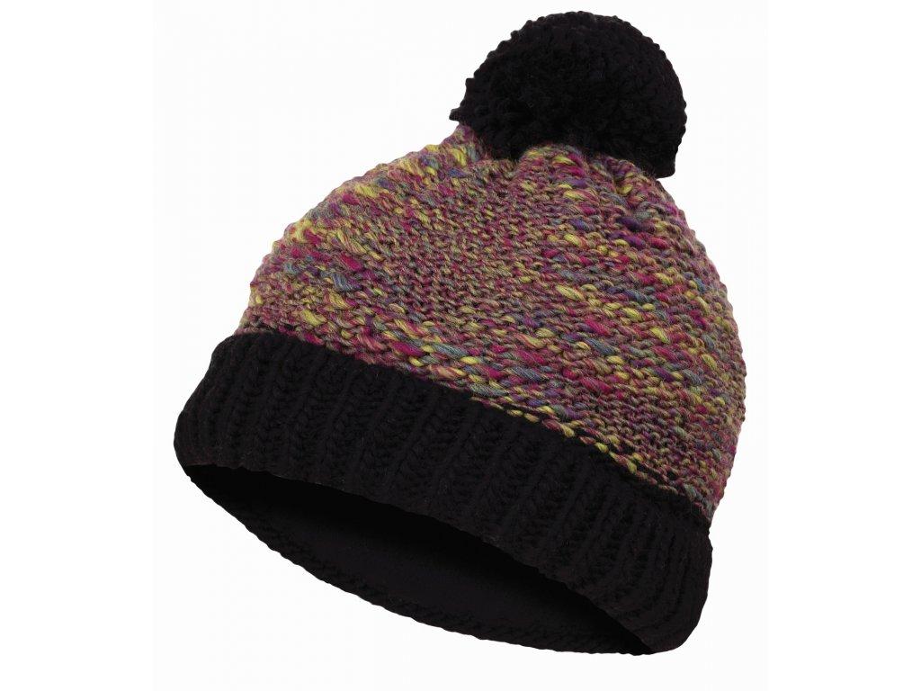 Dámská čepice Cap 8 fialová/černá