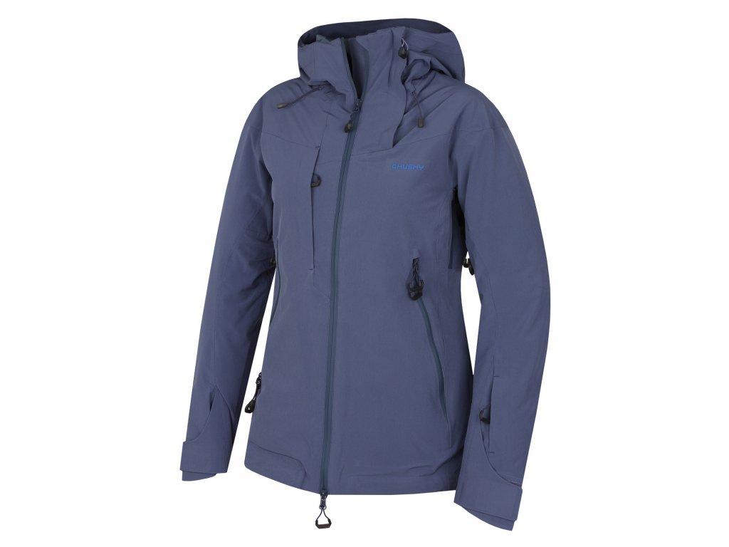 Dámská lyžařská bunda Gombi L modrofialová  Dárek v hodnotě 199,- zdarma