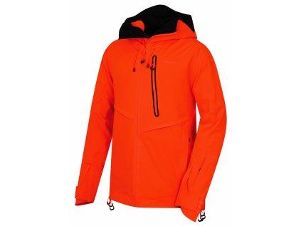Pánská lyžařská bunda Mistral M neonově oranžová  Dárek v hodnotě 199,- zdarma