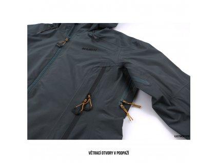 Dámská outdoor bunda Nakron L černý mentol
