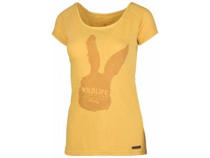 Dámské triko Rabbit L krémově žlutá