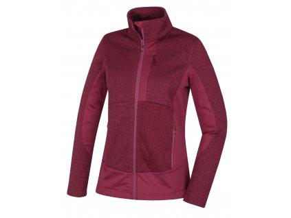 Dámský fleecový svetr Alan L vínová