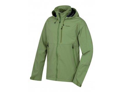 Pánská softshellová bunda Sauri M tm.zelená  Dárek v hodnotě 199,- zdarma