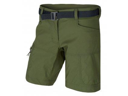 Dámské šortky Kimbi L tm.zelená
