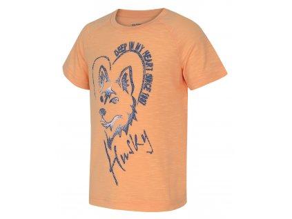 Dětské triko Zingl Kids lososová