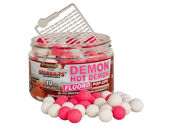 Plovoucí FLUO Boilies Starbaits Hot Demon - 80 g