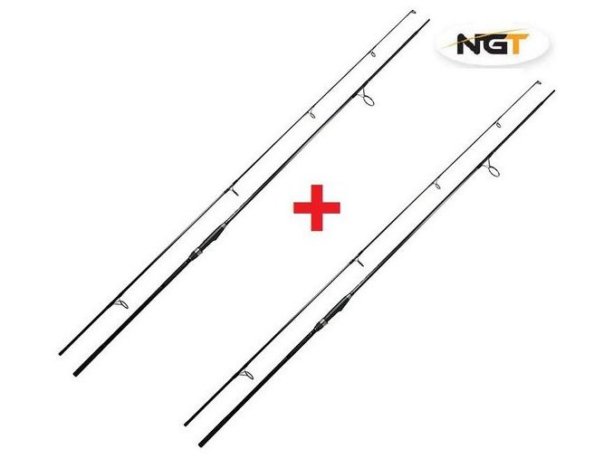 NGT Prut Dynamic Carp Black 12ft 3lb 1+1 ZDARMA