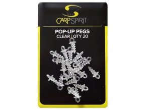 Zarážky Carp Spirit Pop-Up Pegs - clear