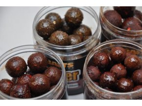 Mikbaits Gangster boilie v dipu 250 ml - G3 Losos+Caviar+Black Pepper