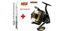 Prut LINEAEFFE Hard Spin Advanced 240 cm / 200-500 g + naviják SELLIOR DoubleCat 80