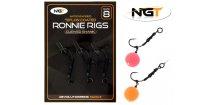 NGT montáž Ronnie Rig & Teflon Hooks 3 pcs