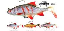 Gumové nástrahy FOX Rage Replicant Roach s realistickým barevným zpracováním 14 cm plotice, perfektním chodem a vysoce kvalitními háčky, které jsou pro vláčecí nástrahy na candáty, štiky, sumce a další dravé ryby nezbytné.