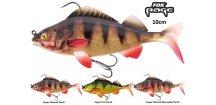 Gumové nástrahy FOX Rage Replicant Perch s realistickým barevným zpracováním 10 cm okouna, perfektním chodem a vysoce kvalitními háčky, které jsou pro vláčecí nástrahy na velké okouny, candáty, štiky, ale i sumce a další dravé ryby nezbytné.