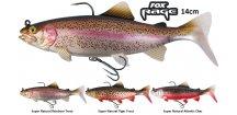 Gumové nástrahy FOX Rage Replicant Trout s realistickým barevným zpracováním 14 cm pstruha, perfektním chodem a vysoce kvalitními háčky, které jsou pro vláčecí nástrahy na candáty, štiky a další dravé ryby nezbytné.
