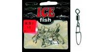 ICE Fish mořské obratlíky s karabinkou RSI