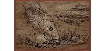 Delphin rohožka Retro boilie kapři - 60 x 40 cm