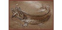 Delphin rohožka Retro štika - 60 x 40 cm