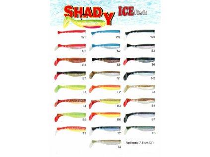Nástrahy umělé ICE Fish Shady 7,5 cm