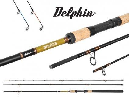Prut Delphin Anubis Feeder 360 cm/100 g + 2 špičky