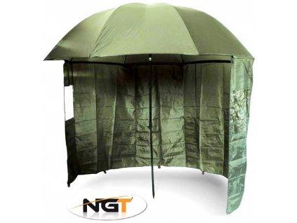 NGT deštník s bočnicí Brolly Side Green 2,20 m