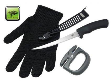 Giants Fishing filetovací sada - nůž, rukavice a brousek Combo Fillet