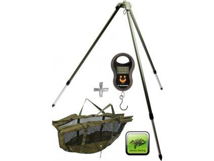 Giants Fishing stojan na vážení Weigh Tripod + vážící sak + váha zdarma