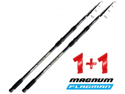 Flagman teleskopický prut Magnum Black Tele Carp 360 cm/3,25 lbs - AKCE 1+1