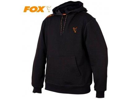 Mikina FOX Collection Black/Orange Hoodie