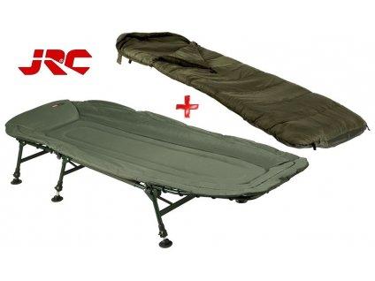 JRC rybářské lehátko Contact Lite + spací pytel Defender Sleeping Bag