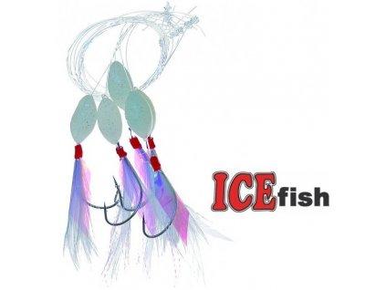 Makrelový návazec ICE Fish bílý - 5 ks