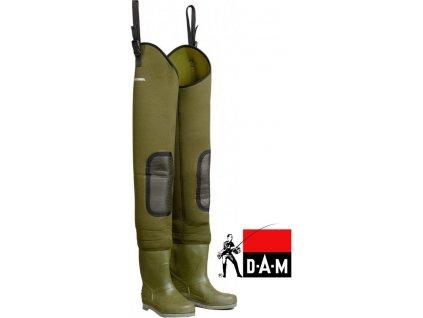 Brodící kalhoty DAM Fighter PRO+ Hip Neoprene Hip Wader Cleated Sole