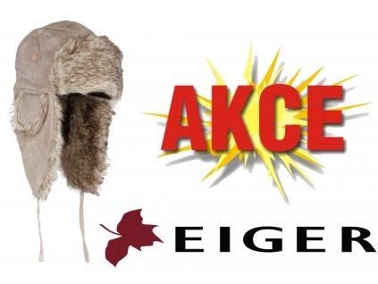 Zimní kožešinová ušanka EIGER Lady Suede Fur Hat Pale Khaki - světlá