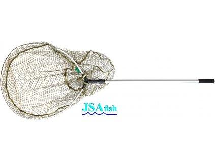 Podběrák JSA Fish Pike s pogumovanou síťkou 140 cm/65 x 60 cm