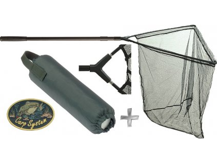 Kaprový podběrák Carp System ALU 200 cm/80 x 80 cm + plovák