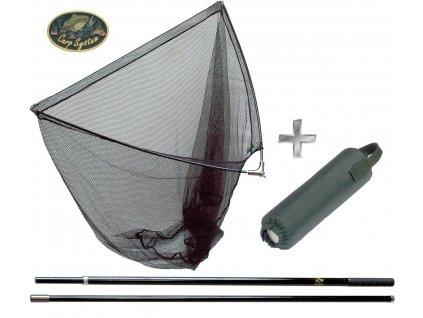 Kaprový podběrák Carp System 180 cm/100 x 100 cm + plovák