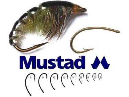 Mustad muškařské háčky Curved Fly Hook C49S 25 ks