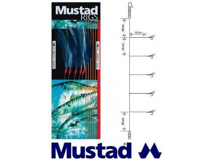 Mustad mořský návazec Blue mackerel and pollack sabiki rig T58 - 5 ks