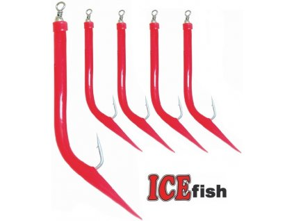 ICE Fish treskové papriky na návazce pro mořský rybolov - 5 ks