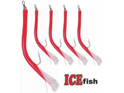 ICE Fish treskové papriky S na návazce pro mořský rybolov - 5 ks