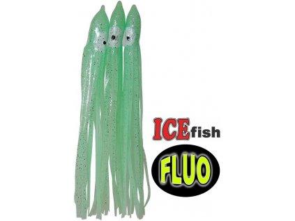 ICE Fish chobotnice na návazce pro mořský rybolov fluo - 3 ks