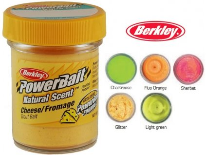 Berkley PowerBait Natural Scent Cheese Trout Bait sýrové těsto na pstruhy - 50 g