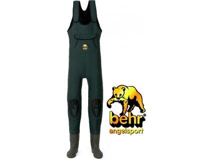Behr brodící kalhoty High Back Neopren Wathose 4 mm Profilsohle