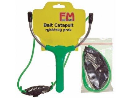 Rybářský prak Feeder Match AC + náhradní gumy a košíček