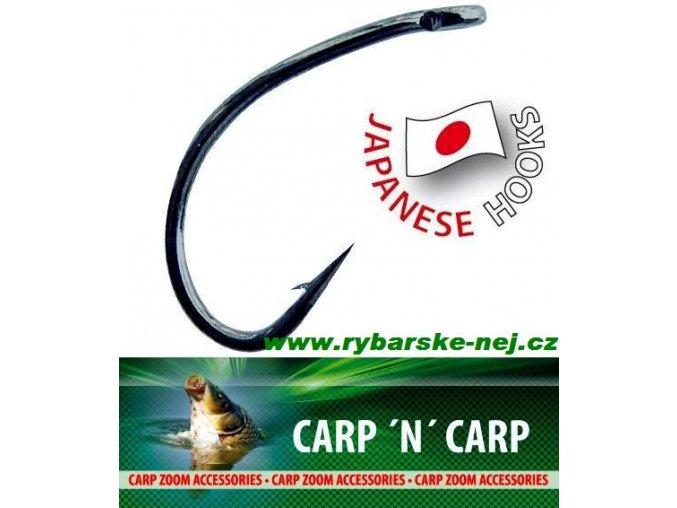 Háčky CARP ZOOM Tefcon Gripper Hooks - s očkem / 10 ks